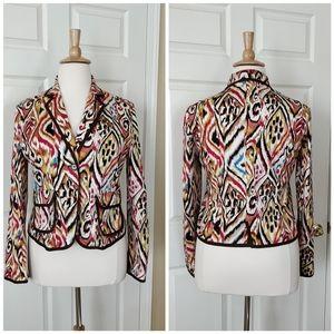 Christopher & Banks stretch cotton blend blazer XL